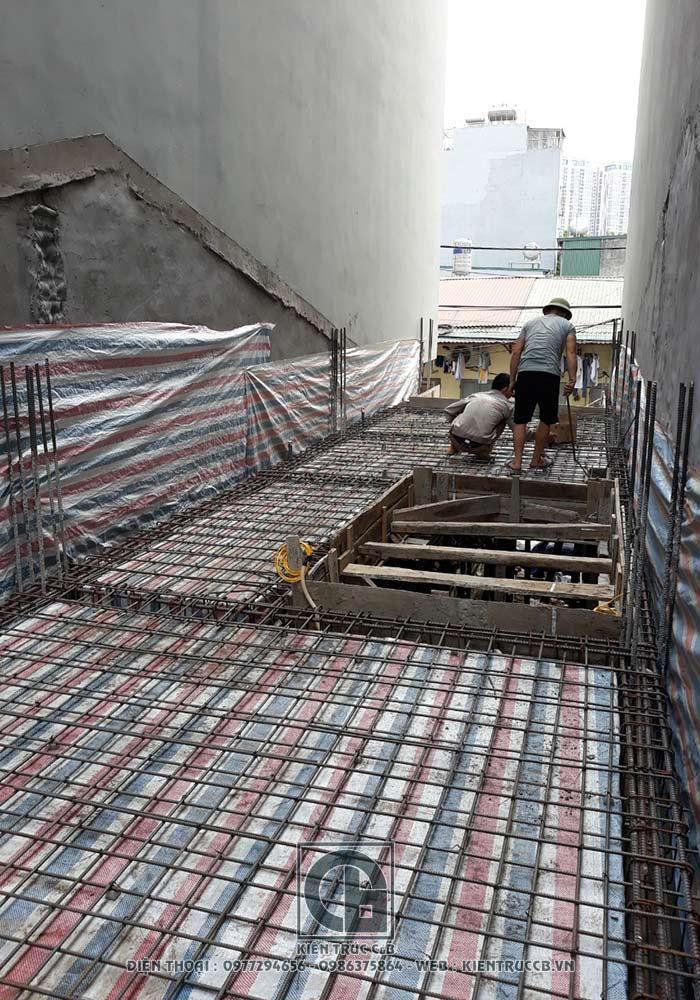Tiến độ thi công mẫu thiết kế nhà ống 5 tầng