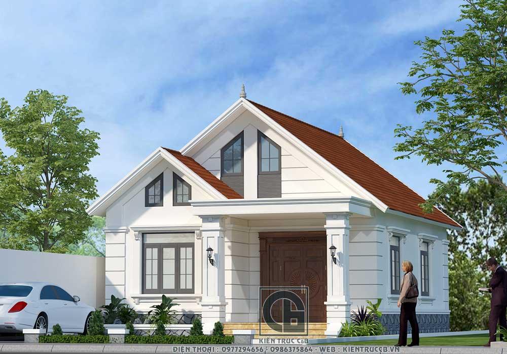 Thiết kế nhà vườn mái Thái 1 tầng phong cách hiện đại, năng động