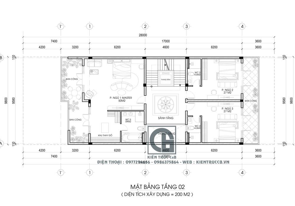 Mẫu biệt thự phố mái nhật 3 tầng theo phong cách tân cổ điển
