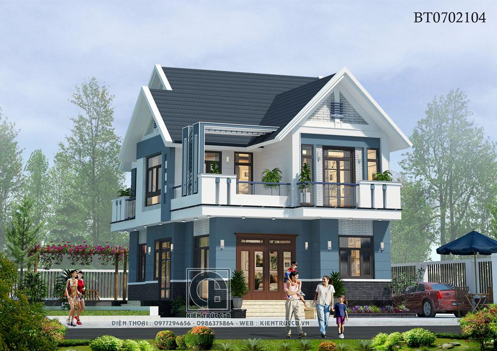 Mẫu biệt thự hiện đại 2 tầng mái Thái