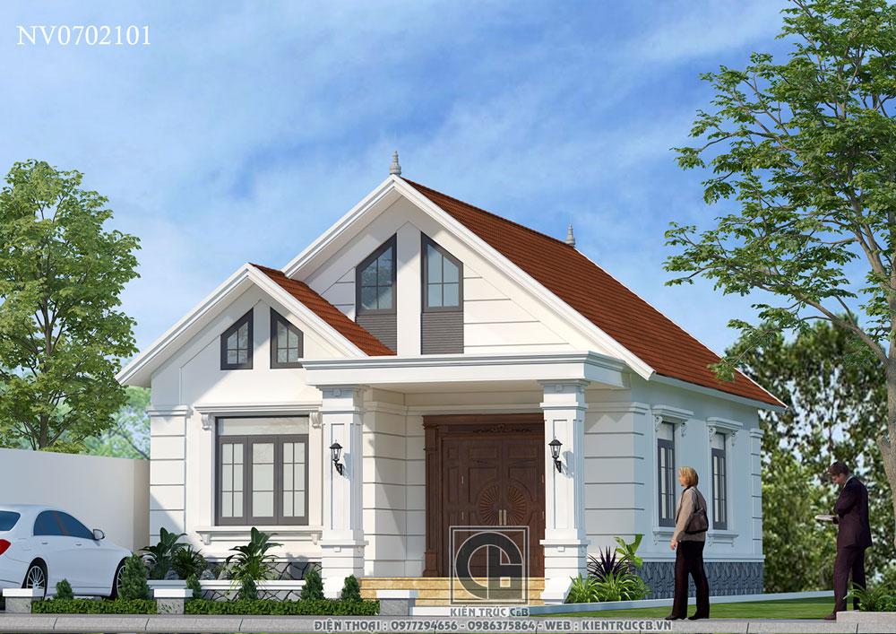 Mẫu thiết kế nhà vườn mái Thái 1 tầng phong cách nhẹ nhàng
