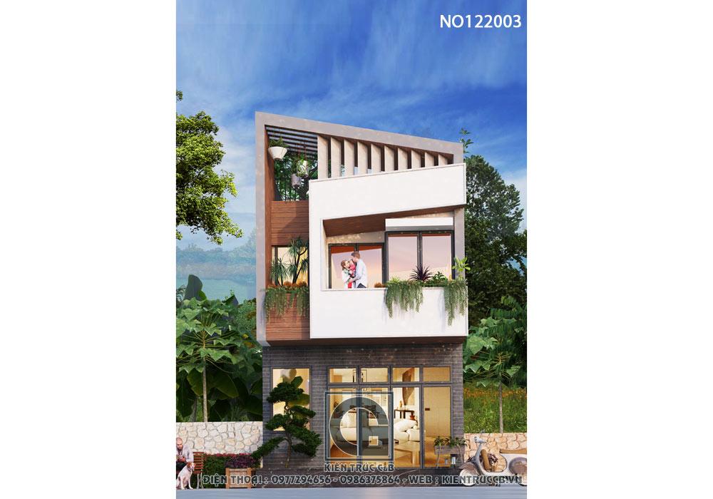 mẫu nhà hiện đại 2 tầng