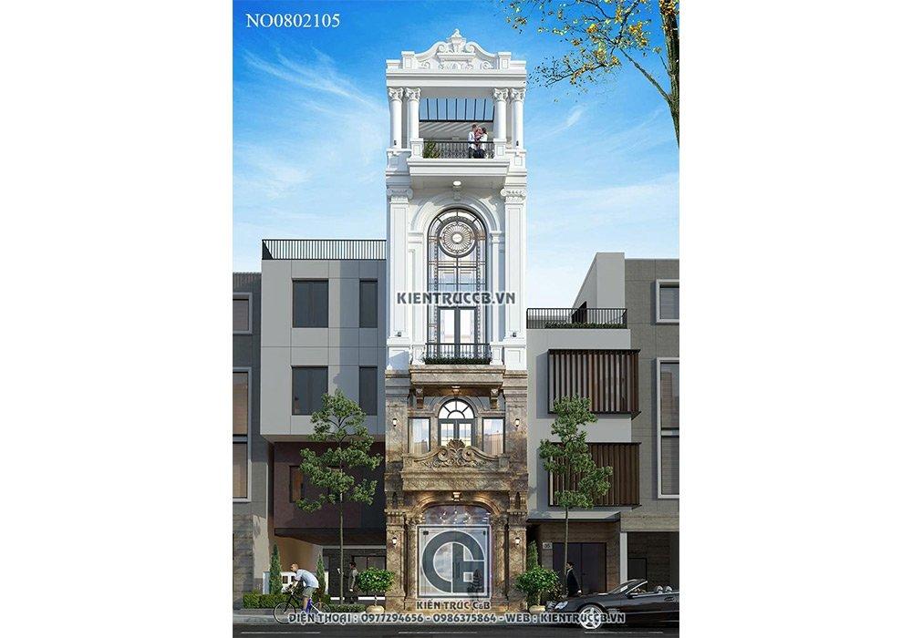 Mẫu thiết kế nhà phố 75m2 theo phong cách tân kết hợp kinh doanh