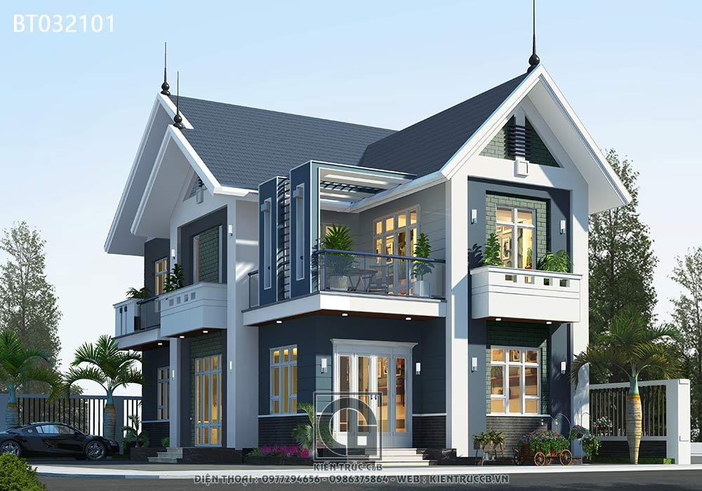 thiết kế biệt thự đẹp hiện đại hay tân cổ điển