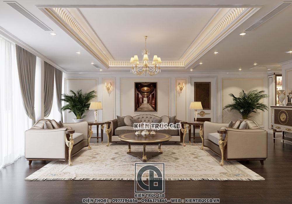 Vẻ đẹp nhẹ nhàng, sang trọng trong mẫu thiết kế nội thất tân cổ của Kiến Trúc Nội Thất C&B
